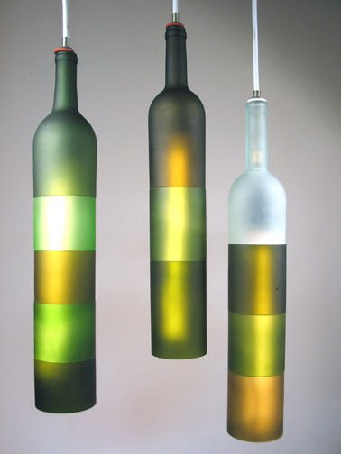 Classy Wine Bottle Lights Lamps & Lights Recycled Glass