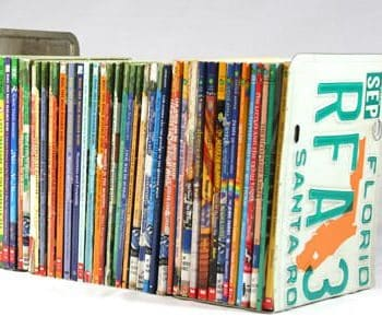 License plates bookends