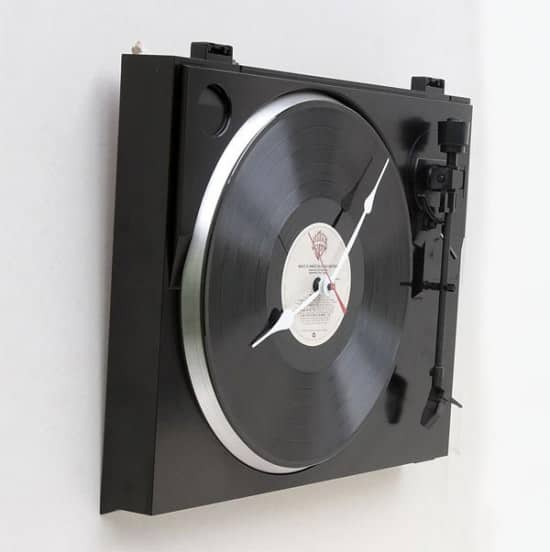 Turntable Clock Recycled Electronic Waste