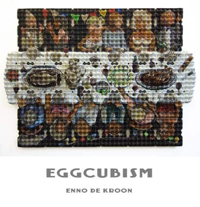 Eggcubism By Enno De Kroon Recycled Art Recycled Packaging