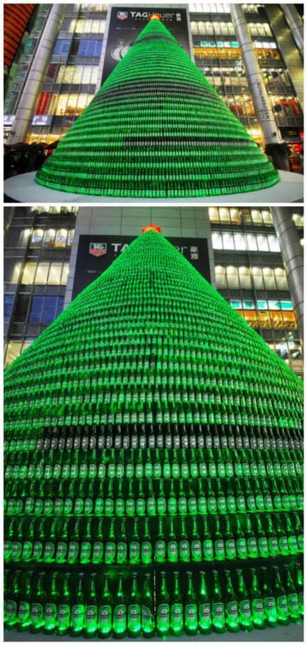 1,000 Beer Bottles Christmas Tree