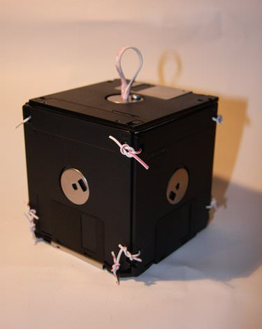 Floppy Disks Box Accessories Recycled Electronic Waste