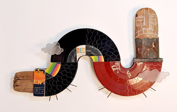 Extended Play by Wade Mickley Recycled Art Recycled Vinyl