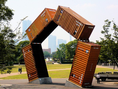 Upcycled Container Sculpture Recycled Art
