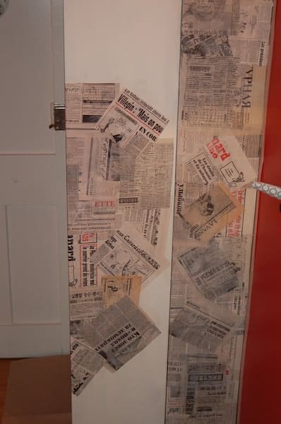 Newspaper Collage Recycled Furniture Recycling Paper & Books