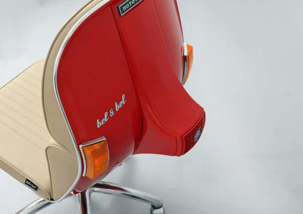 Upcycled Vespa Parts Into Beautiful Design Chairs Recycled Furniture