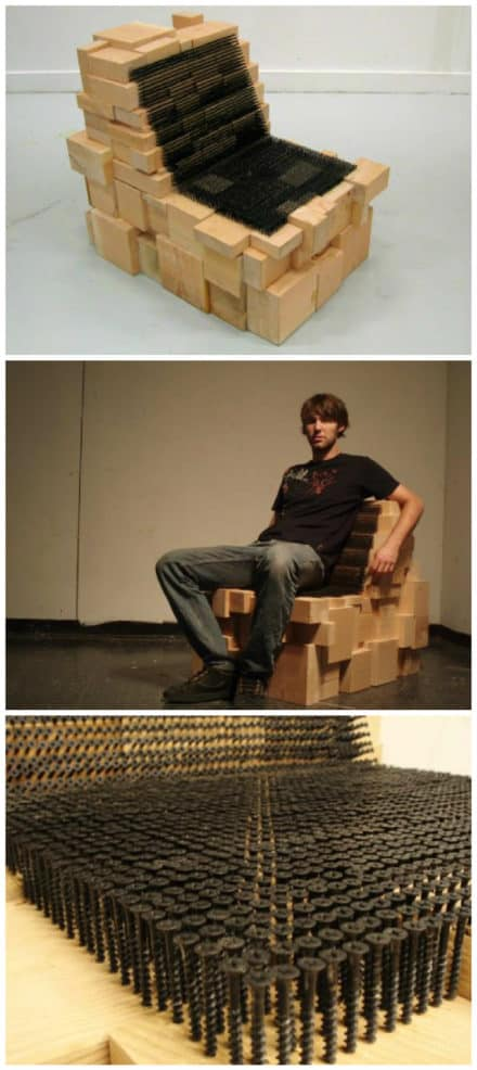 Chair Made With 3,726 Drywall Screws
