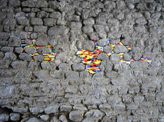 Lego Patches Recycled Art