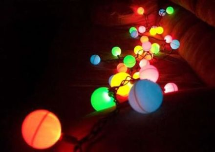 Diy: Ping Pong Ball Light Garland