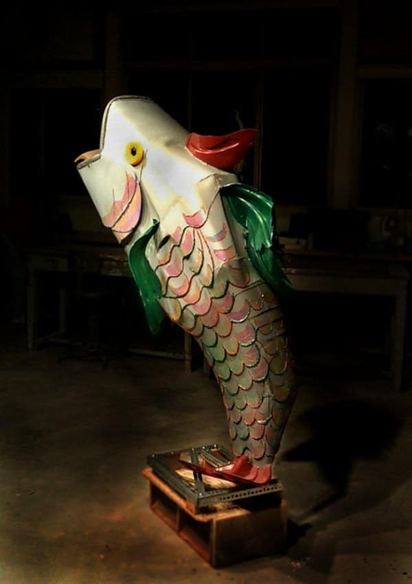 Peter Wilcox Sculpture Recycled Art