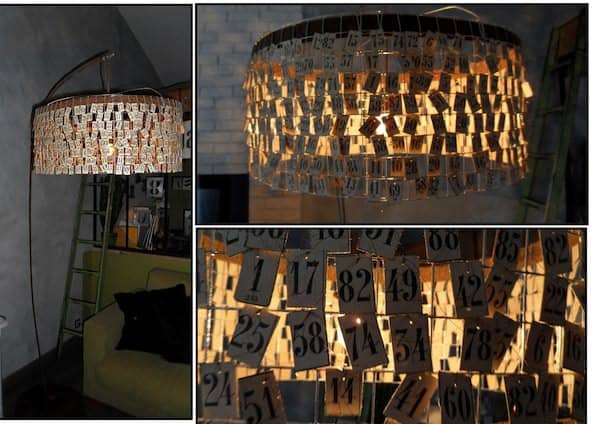 Loto Card Light Lamps & Lights Recycled Cardboard