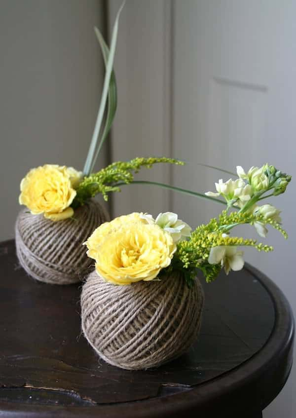 Spools Twine Vases Accessories Do-It-Yourself Ideas