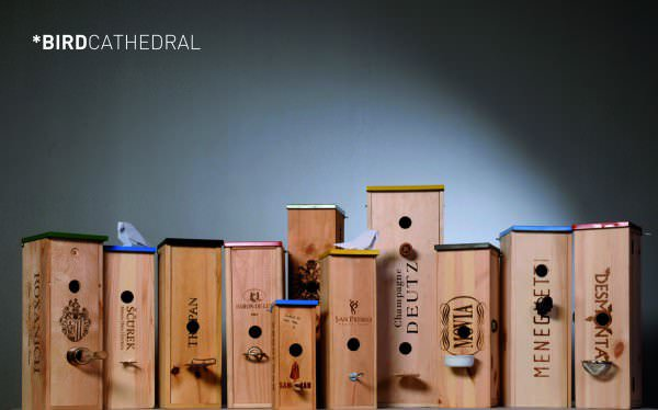 Bird Cathedral Recycled Packaging Wood & Organic