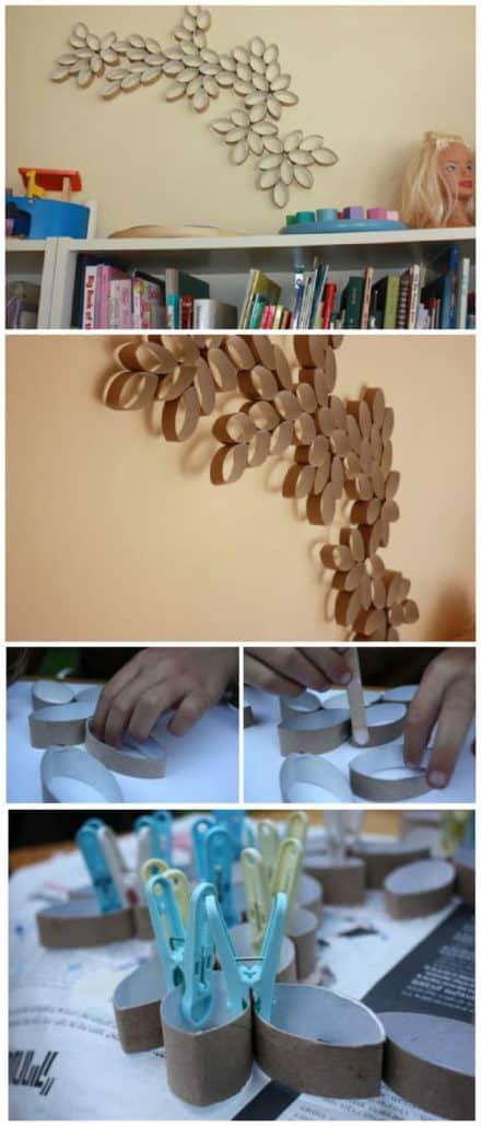 Diy: Paper Rolls Wall Art