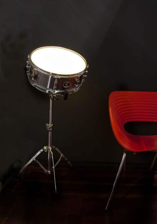The Drum Light Lamps & Lights Recycled Art Recycling Metal