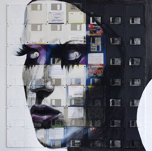 Nick Gentry : Floppy's Disks Art Recycled Art Recycled Electronic Waste