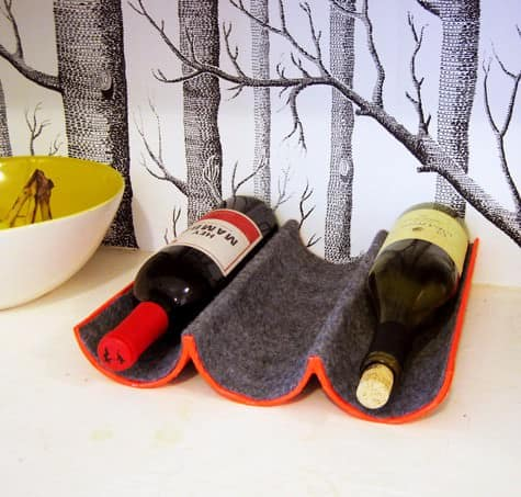 Diy: Wine Rack Made Out Of Mailing Tube