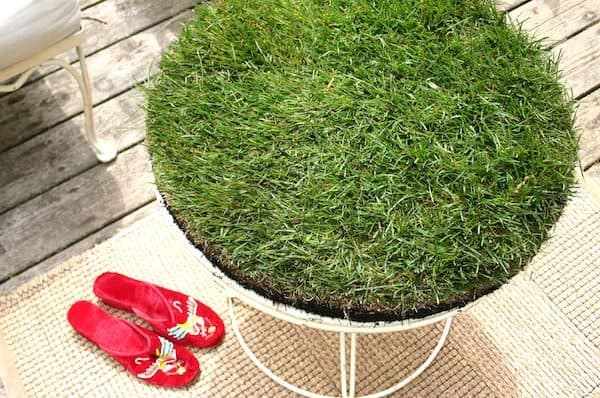 Grass Table Do-It-Yourself Ideas Recycled Furniture Recycling Metal