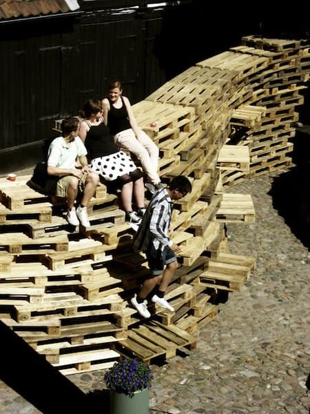 Be Paletto Interactive, Happening & Street Art Recycled Pallets Wood & Organic