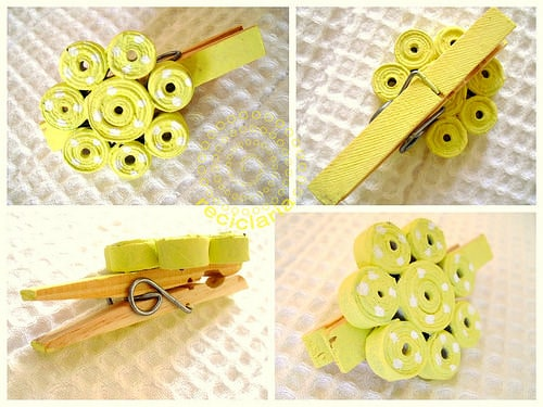 Homemade Brooch Accessories Do-It-Yourself Ideas Recycling Paper & Books