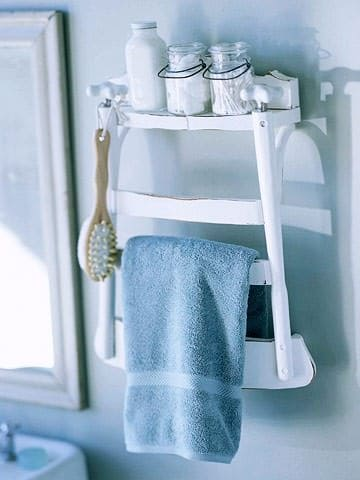 Diy: Bathroom Shelf From Old Chair Do-It-Yourself Ideas Recycled Furniture