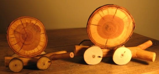 Wooden Snail Family Wood & Organic