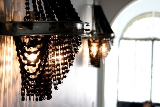 Bicycle Chandelier Lamps & Lights Recycling Metal Upcycled Bicycle Parts