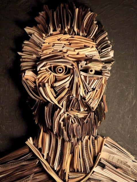 Paper Works by Nick Georgiou Recycled Art Recycling Paper & Books
