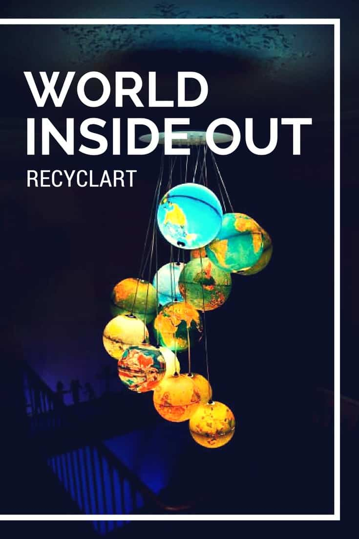World Inside Out A Chandelier Made Out Of Recycled World