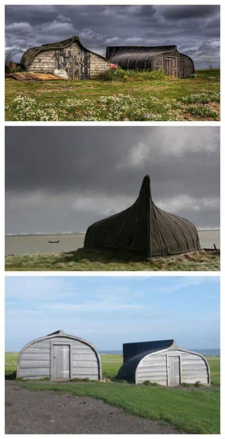 Old Boats Recycled Into Sheds