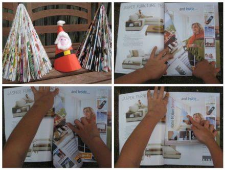 Diy: Magazine Christmas Tree