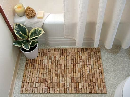 Diy: Wine Corks To Bath Mat