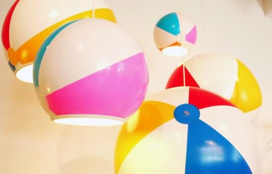 Beach Ball Into Lampshade