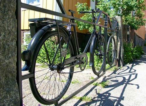 Old Bike Into Garden Gate