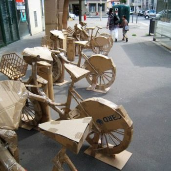 Cardboard Bike Station