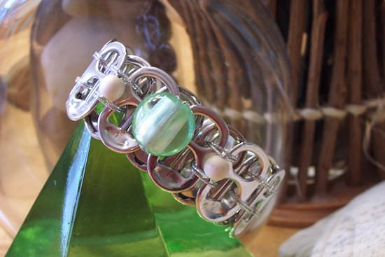 Upcycled Can Tabs Into Jewelry Upcycled Jewelry Ideas
