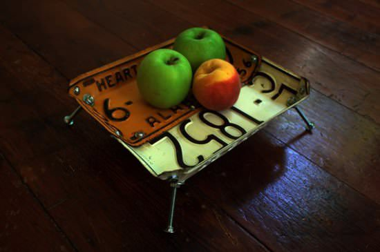 License Plates Upcycled Into Bowls Accessories