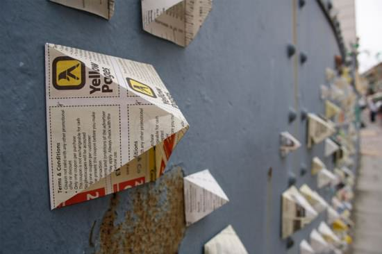 Love Your Street Interactive, Happening & Street Art Recycled Art Recycling Paper & Books