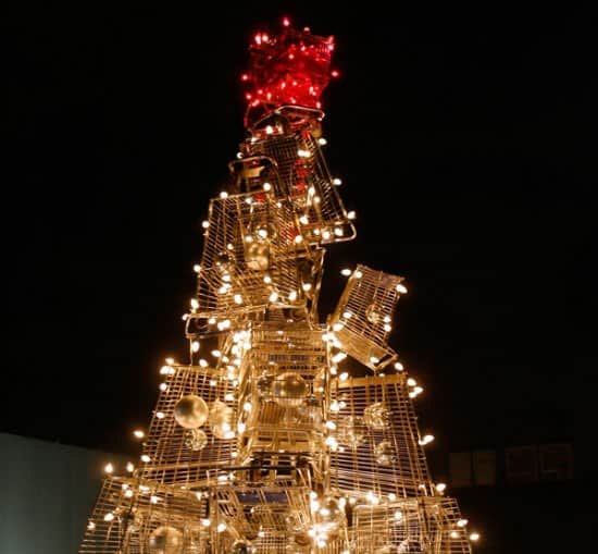 Christmas Tree From Upcycled Shopping Carts