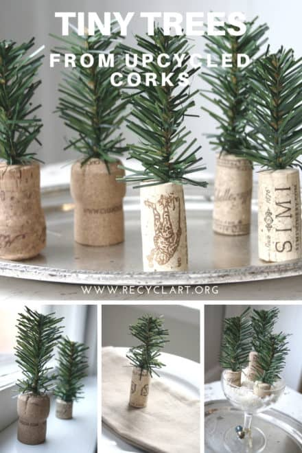 Diy: Tiny Trees From Upcycled Corks