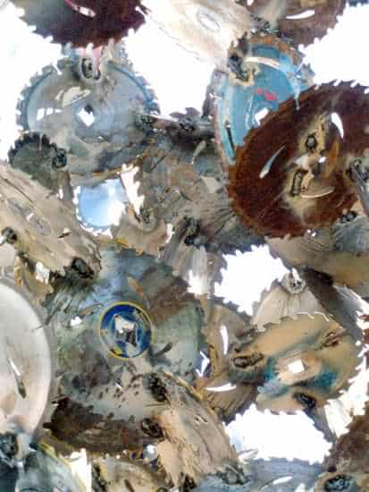Saw Blades Sculpture Recycled Art Recycling Metal