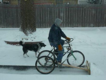 Diy : Pedal-powered Snow Plow