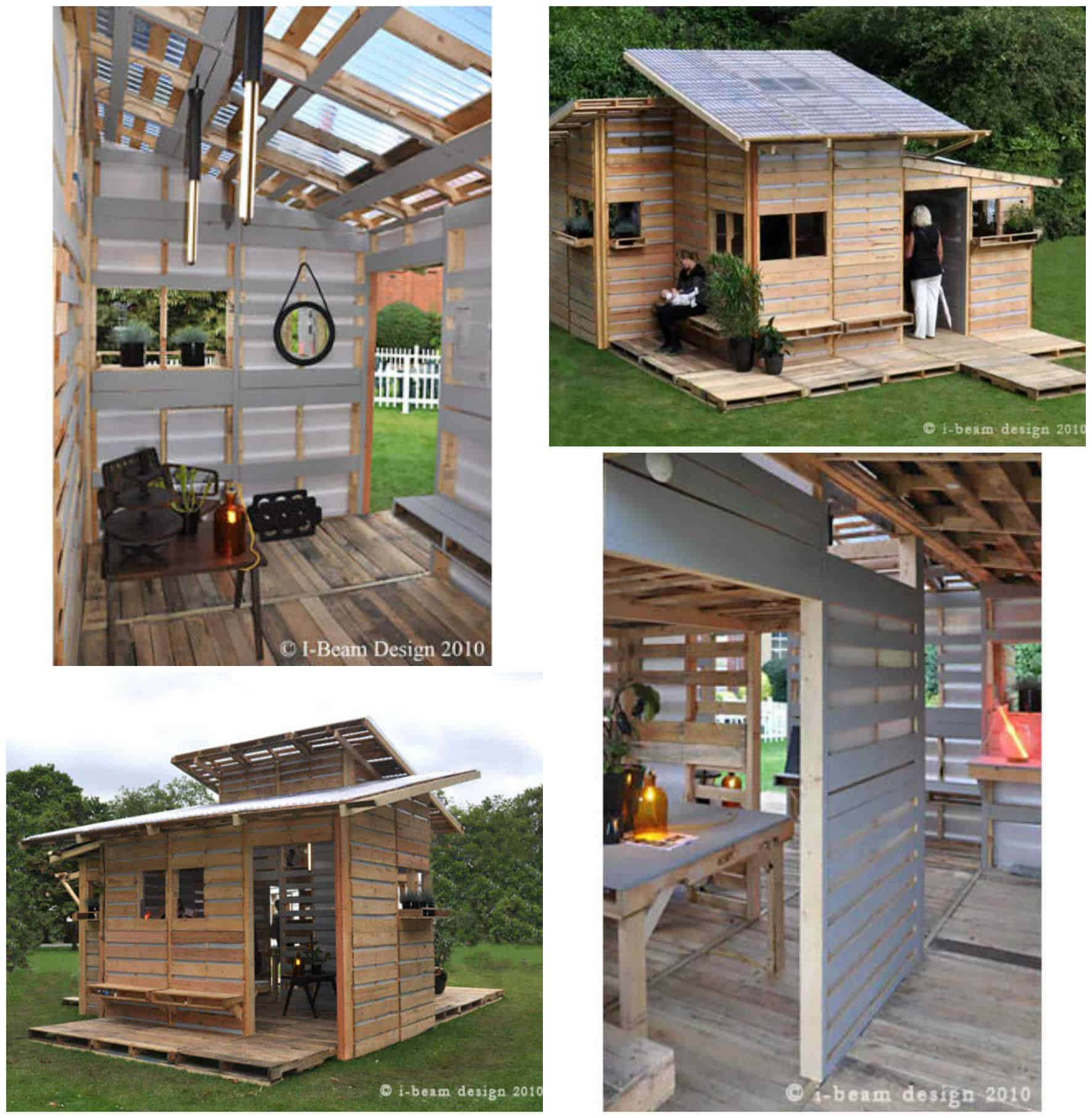 Pallet Home I Beam Design Pallet House O Recyclart