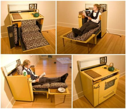 Kitchen Oven Upcycled Into Modular Lounge Furniture