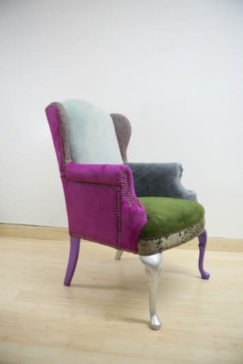 Scrap Fabric Chairs Recycled Furniture