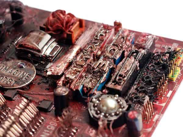 Computer Motherboard Art Recycled Art Recycled Electronic Waste