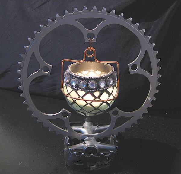 Bike Candle Holder Accessories Upcycled Bicycle Parts