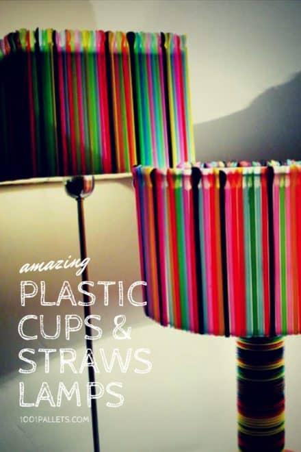 Plastic Cups & Straws Lamps