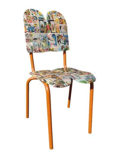 Chairskate or Skateboards Chair Recycled Furniture Recycled Sports Equipment