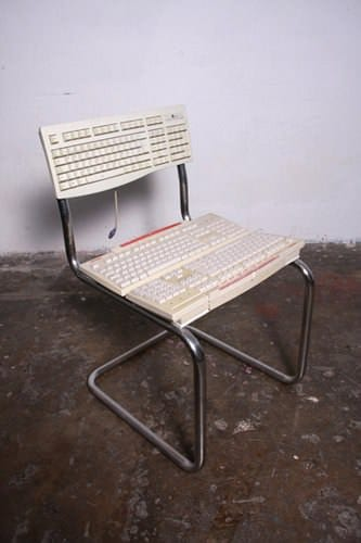 Keyboard Chair Recycled Electronic Waste Recycled Furniture